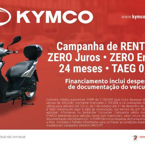 KYMCO prolonga campanha sem juros até ao final do ano