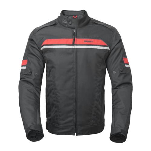 Novo Blusão de Inverno Sprint: Stripe Preto/Vermelho