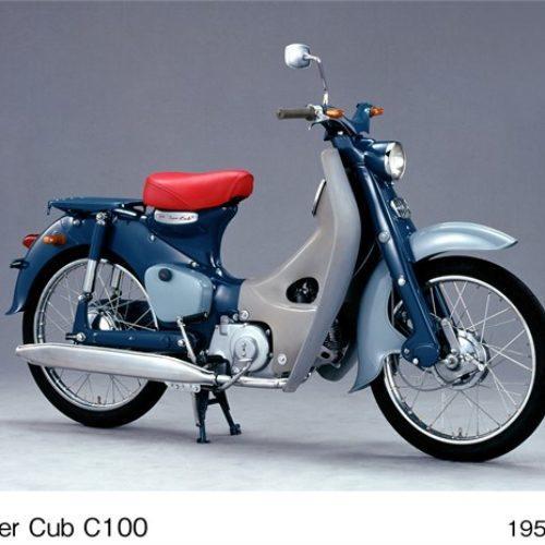 Honda comemora produção global de 100 milhões de unidades do modelo Super Cub