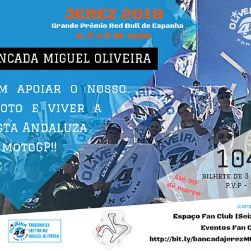 Miguel Oliveira Fan Club organiza bancada de apoio ao piloto em Jerez de la Frontera