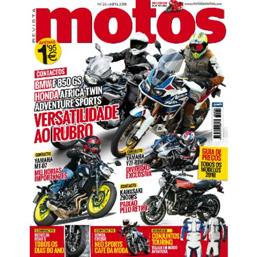 Revista Motos de abril à venda a partir de amanhã