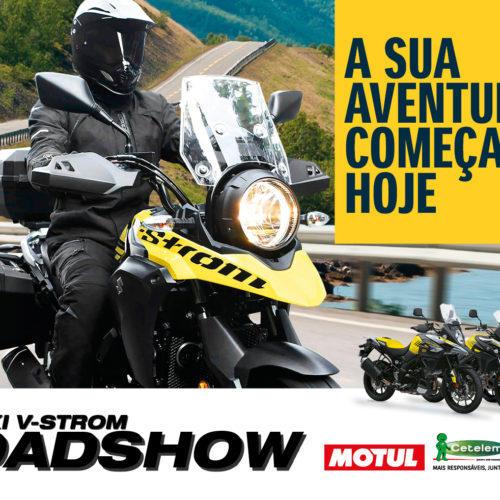 Roadshow Suzuki vai permitir testar várias versões da V-Strom