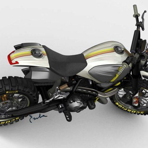 Ducati Design Center mostra Scrambler Desert Sled
