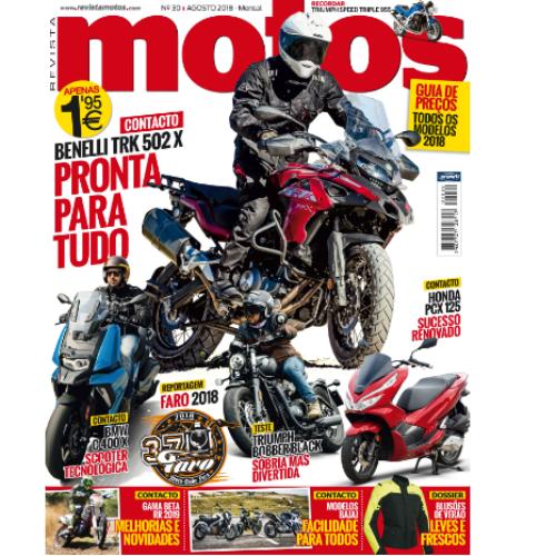 Edição de agosto da Revista Motos já está nas bancas