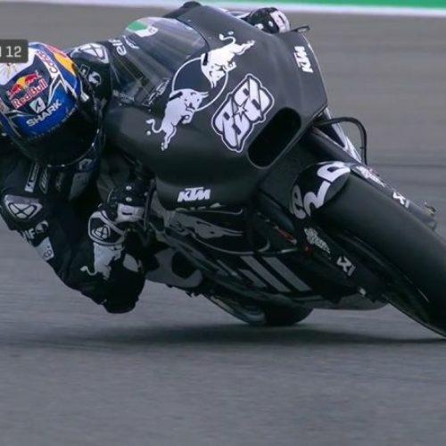 Miguel Oliveira apanha o primeiro susto com a nova moto