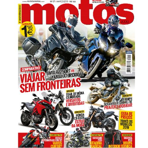 Revista Motos de março chega hoje às bancas