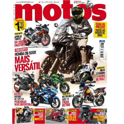 Revista Motos de abril chega amanhã às bancas de todo o país