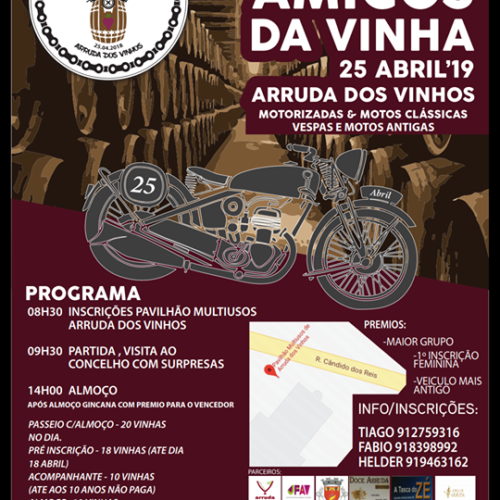Primeiro passeio de motos Amigos da Vinha decorre em Arruda dos Vinhos