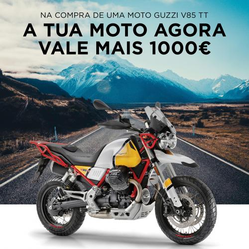 Moto Guzzi valoriza retoma na compra de uma V85TT nova