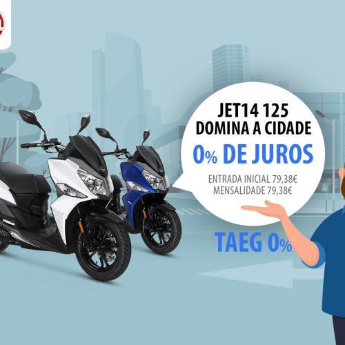 SYM lança campanha sem juros para a Jet14 125 cc
