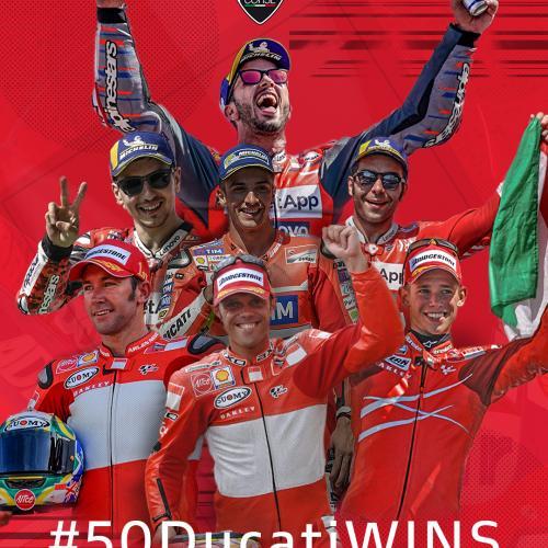 Ducati alcança na Áustria a vitória número 50 em Moto GP