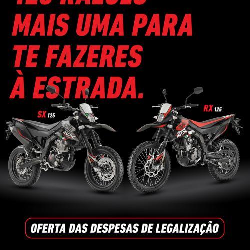 Aprilia anuncia campanha para os modelos RX e SX 125