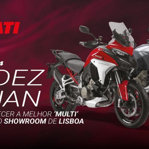 Ducati promove nova Multistrada V4