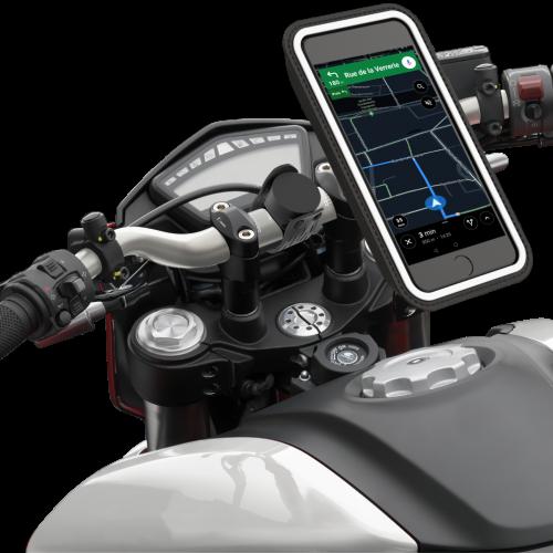 Novo sistema de suporte universal de telemóveis para motos e scooters