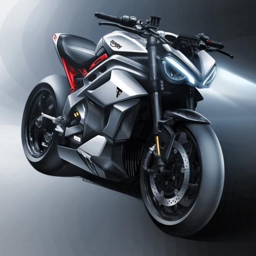 Triumph mostra esboços e bateria final da sua moto elétrica TE-1