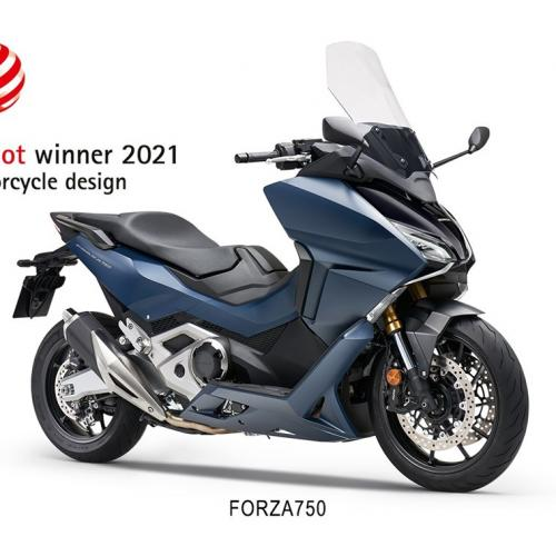 "Honda Forza 750 conquista prémio Red Dot 2021 na Categoria ""Motorcycle Design"""