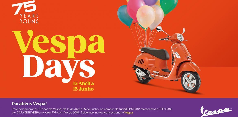 Vespa lança campanha especial dos 75 anos