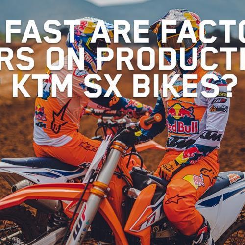 Testando os modelos de produção 2022 KTM 450 SX-F e KTM 125 SX (Video)