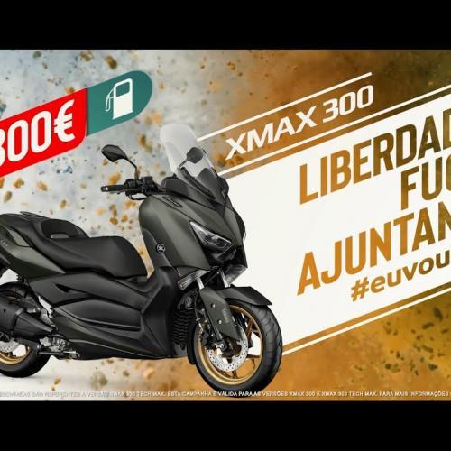 Nova Yamaha XMAX 300 com Oferta de Combustível (Video)
