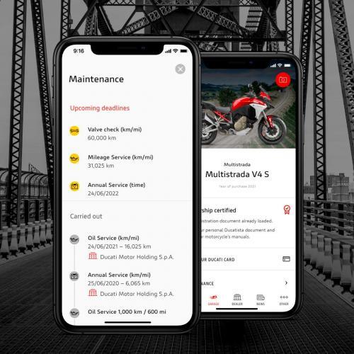 """MyDucati App evolui com a nova secção """"Manutenção"""""""