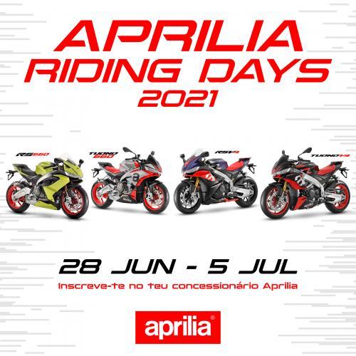 Aprilia Riding Days entre 28 de junho e 5 de julho