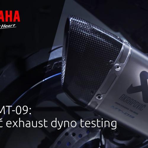 Escute a Yamaha MT-09 com um Akrapovič (Video Oficial)