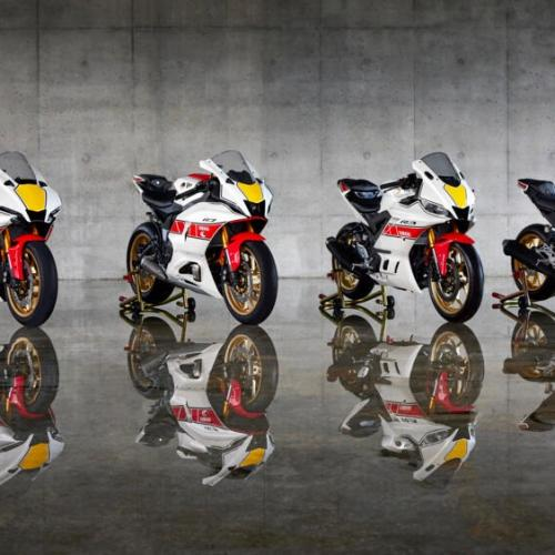 Modelos da Série R de 2022 celebram história das corridas da Yamaha