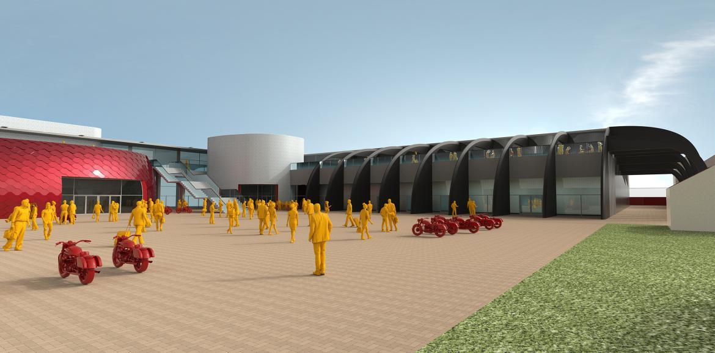 Moto Guzzi apresenta projeto futurista para fábrica e museu